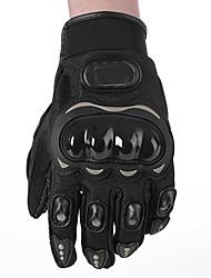 Мотоцикл перчатки Полныйпалец ESP+PC M / L / XL / XXL Черный