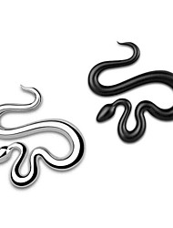 Crawling Snake Chrome Metal Car Styling Emblem Badge 3D Sticker Cool Auto Decal