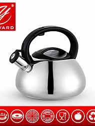 YAWARD 2.6L Stainless Steel Whistling Water Kettle Induction Kettle Gas Kettle Tea Kettle