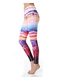 Yoga Pants Underdelar Andningsfunktion / Snabb tork / wicking Naturlig Stretch Fotbollströjor Dam Yokaland Yoga / Pilates / Fitness