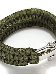 cuerda de la supervivencia acampar al aire libre de la armadura de la pulsera 7 stand-hebilla de la aleación