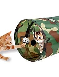 Brinquedo Para Gato Brinquedos para Animais Tubos e Túneis Dobrável Boca de Sino TéxtilAzul Cor camuflagem Azul/ Vermelho Faixas-Zebra