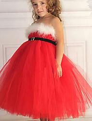 Vestido Chica de - Verano / Primavera / Otoño - Poliéster - Rojo
