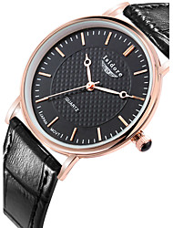 Men's Fashion Genuine Leather Water Resistant Quartz Watches Wrist Watch Cool Watch Unique Watch