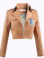 Inspirado por Attack on Titan Eren Jager Anime Fantasias de Cosplay Tops Cosplay / Bottoms Cor Única Rosa Top