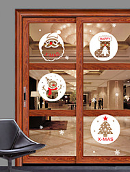 Window Stickers Window Decals Style Christmas Gift Snowman Window Glass Decoration PVC Window Stickers