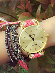 Fashion Women'S Watches Geneva Watches Weave Wrist Watch Gift idea