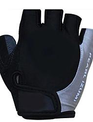 luvas de ciclismo dos homens koraman sem dedos preto&cinza bicicleta de nylon luvas de dedo metade bicicleta ciclismo