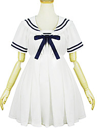 White Polyester Navy Costume