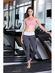 Corrida 3/4 calças justas / Fundos Mulheres Respirável Ioga Rainha Yoga Stretchy S / M / L