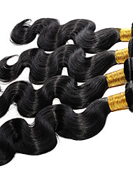 ANNA Brazilian Body Wave Virgin Hair Extensions 1pcs Virgin Hair Bundles 1B Human Hair Weaves 100g/pcs