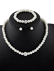 Women's Pearl Necklace Strands Necklaces Pearl Fashion White Jewelry Daily Casual 1pc