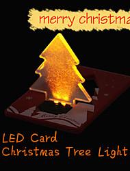 2015 neue Weihnachtsdekoration Taschenklapp Weihnachtsbaum Form LED-Licht-Kreditkarte e1it