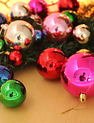 (A Packet Of 32)Christmas Colorful Ball Dumb Light Ball Christmas Tree Ornaments