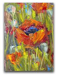 iarts®abstract gras prachtige botanische schilderij