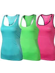 yoga tanque / ciclismo de poliéster de las mujeres clothin®&elastano chaleco sin mangas de ciclismo