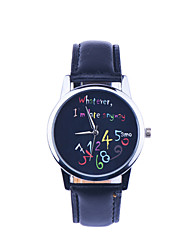 Rustic Wristwatch for Men Women Leather Wristband Watch whatever i'am late Word Watch Unique Gift Cool Watches Unique Watches