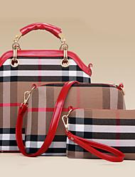 Women PU Barrel Shoulder Bag / Tote / Satchel / Clutch - Blue / Red / Black