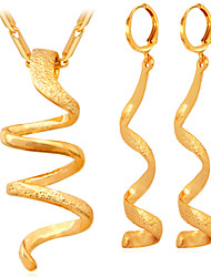 TopGold New Twisted Snake Jewelry Set  for Women Hot Fashion Jewelry Gift 18K Real Gold Plated  Women's High Quality