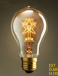 E27 40W  A19 Star Edison Coffee Retro European And American Mainstream Decoration Light