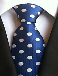 Men Wedding Cocktail Necktie At Work Blue White Colors Tie