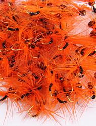 """Mouches / leurres de pêche Mouches 20 pcs , 0.2g g / <1/18 / 1/18 Once , 3 mm / <1"""" pouceOrange / Rouge / Bleu / Alose jaune / Vert"""