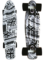 UK Flag Graphic Printed Plastic Skateboard (22 Inch) Cruiser Board with abec-9 Bearing