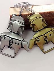 Robot Boba Fett Solid Metal Magnetic Bottle Opener with Keychain Key Ring(Random Color)