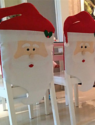 2pcs 2015 nuova moda sedia cappello rosso di Babbo Natale cover posteriore casa tavola decorazione festa di Natale per natale