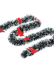 Christmas encryption bold snowflakes striped wool top spent Christmas decoration Christmas decorations Contains bowknot