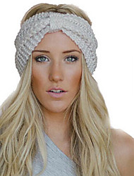 Women's New Corn Two Sides Vertical Headband Manual Wool Knitting Warm  Hoop Hat