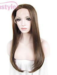 """imstyle 24 """"каштановый смешанный отбеливатель блондинка синтетические шелковистые прямые кружева перед парики-N2"""