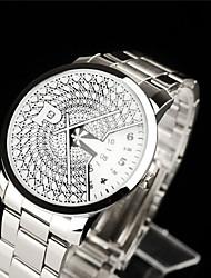 Masculino Relógio de Pulso Quartzo Cronógrafo Aço Inoxidável Banda Preta Prata Dourada # 1 # 2 # 3 # 4