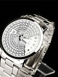 Herren Armbanduhr Quartz Chronograph Edelstahl Band Schwarz Silber Gold 1 # 2 # 3 # 4 #