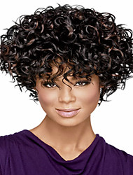 New Arrival European  Lady Women Short  Curl  Syntheic  Wave  Wigs
