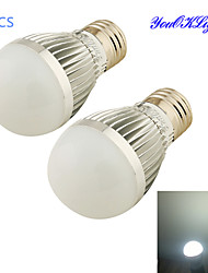 Ampoules Globe LED Gradable / Décorative Blanc Froid YouOKLight 2 pièces B E26/E27 5W 6 SMD 2835 500 LM AC 100-240 V