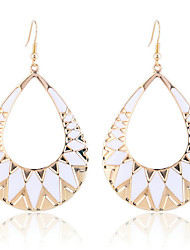 Drop Earrings Alloy Fashion Drop White Black Jewelry Party Daily Casual 2pcs