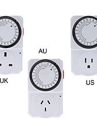 24 horas saver temporizador programa plugue elétrico energia mecânica interruptor de alimentação