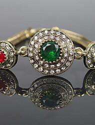 Glass Crystal Gem Simple Snake Chain Bracelet  Crystal Jewelry