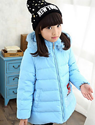 Girl's Blue / Yellow Down & Cotton Padded , Cartoon Polyester Winter