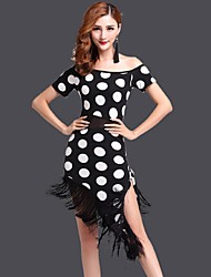 Latin Dance Dresses Women's Performance / Training Milk Fiber Polka Dots 1 Piece Polka Dots