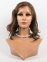 cheveux pleins de dentelle perruques 8-12inch perruques de cheveux de vague de corps pour les femmes