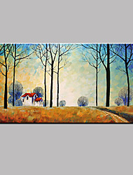 Hand-Painted Landscape Modern Oil Painting On Canvas With Framed Wall Picture For Living Room