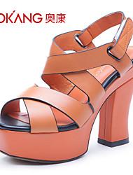Aokang® Women's Leather Sandals - 132818096