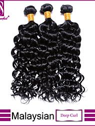 cabelo virgem onda profunda malaio feixes barato malaio onda profunda 100% onda profundamente humano cabelo tecer