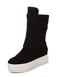 Черный / Зеленый / Серый - Женская обувь - Для офиса / Для праздника / На каждый день - Замша - На платформе -С круглым носком / С
