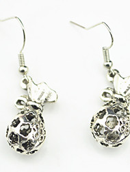 Vintage Look Antique Silver Plated Alloy Bag Star Dangle Drop Earring(1Pair)