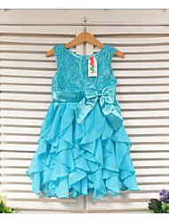 Vestido Chica de - Verano - Poliéster - Azul / Rojo / Blanco