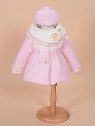 Girl's Pink Jacket & Coat,Dresswear Polyester Winter
