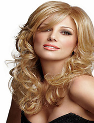 Blonde Synthetic Medium  Wave Wigs To European Women Lady New Arrival